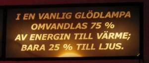 The Uppsala incandescent light bulb - 25% efficient!