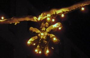 Incandescent Christmas lights in Uppsala 2012