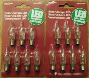 LED-bulbs from Biltema