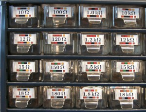 Detailed view of drawers with 37mm x 17mm labels.