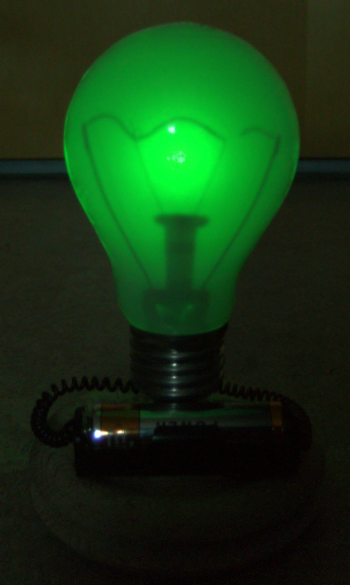 glowing broken incandescent lamp