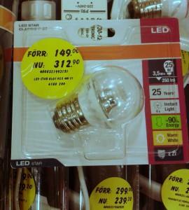Sonderangebot für LEDs bei Bauhaus: der neue Preis ist mehr als doppelt so hoch, wie der ursprüngliche!