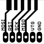 AVR ISP-Adapter - Frontseite.
