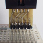 Der erste Prototyp mit einer 90-Grad gewinkelten Stiftleise.