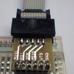 AVR ISP-Adapter mit gerader Stiftleiste.