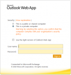 MS Outlook Web App - a survival mechanism for Outlook/Exchange refuseniks.