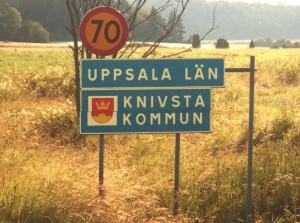 Leaving Uppsala county, Knivsta municipality.