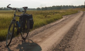 One of many gravel roads.