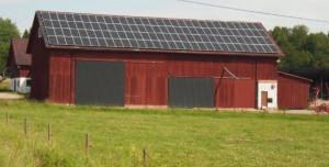 Solar energy between Örsundsbro and Järlåsa.