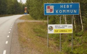 Entering Heby municipality.