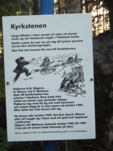 Information sign about the church stone.