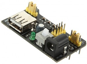 MB102 power supply adapter for breadboards.