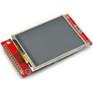 240x320 pixel TFT display with integrated resistive touch controller.