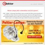 Unschlagbares Angebot der Firma Elektor.