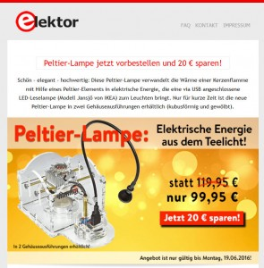 Great offer from Elektor.